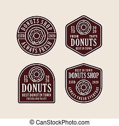 Donuts shop vector design logo collection