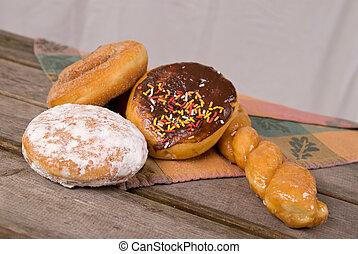 donuts, tavola picnic