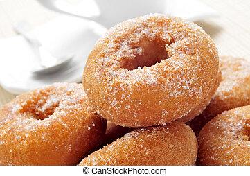 donuts, typowy, rosquillas, hiszpański