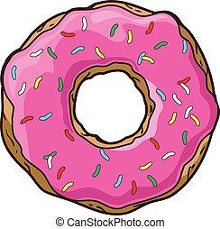 donuts, vettore, set