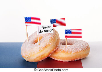 Donuts with Happy Birthday Sign