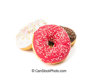 donuts with icing isolated