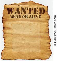 dood, gevraagd, of, levend
