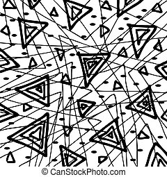 doodle abstract hand drawn pattern