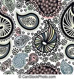 doodle, abstratos, seamless, padrão