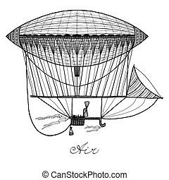Doodle Airship Illustration