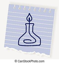 doodle alcohol lamp