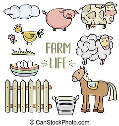 doodle animal farm set