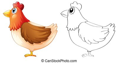 Doodle animal for chicken