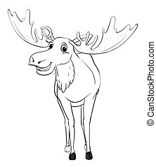 Doodle animal for moose