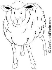Doodle animal for sheep
