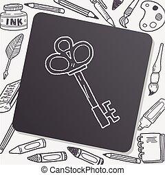 doodle, antigas, tecla