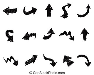 doodle arrow sign icons