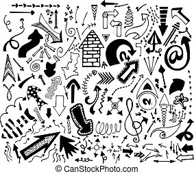 doodle arrow vector.