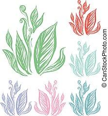 Doodle art of leaf