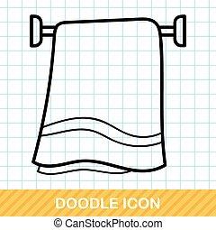 doodle, baddoek