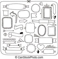 doodle banners frames and design el