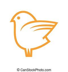 Doodle bird vector icons