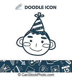 doodle birthday boy
