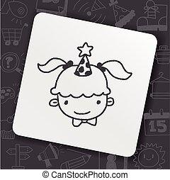 doodle birthday girl
