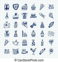 Doodle Birthday icons