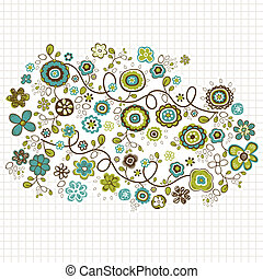 doodle, bloemen