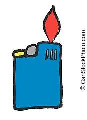 doodle blue cigarette lighter