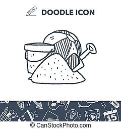 doodle, brinquedos praia