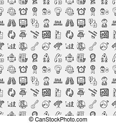 doodle business seamless pattern