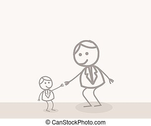 Doodle : Businessman Giving Help