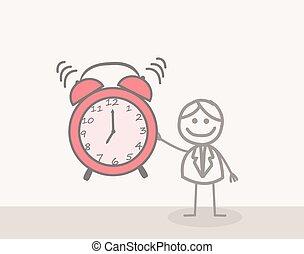 Doodle : Businessman Time