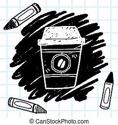 doodle, café
