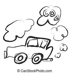 doodle car emits carbon dioxide