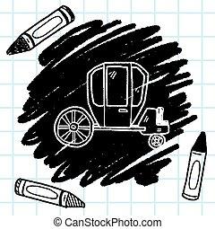 doodle, carruagem