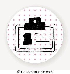 doodle, cartão id
