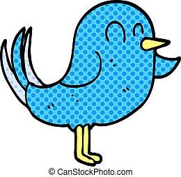 doodle, cartoon, pege, fugl