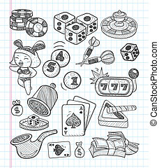 doodle casino icons