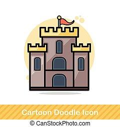 doodle, castelo