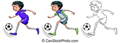 Doodle character for soccer player