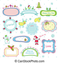 Doodle Christmas frames