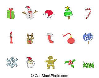 Doodle Christmas icon