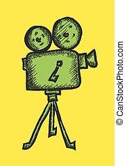 doodle cinema projector, vector