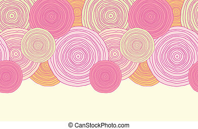 Doodle circle texture horizontal seamless pattern background