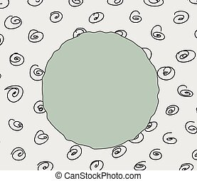 Doodle Circles Pattern Vector Banner