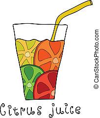 Doodle citrus juice