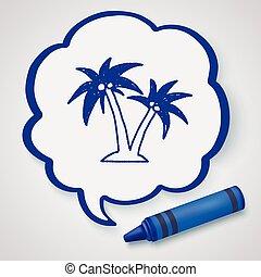 doodle, coco, árvores