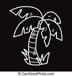 doodle coconut tree
