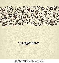 coffee and tea seamless background
