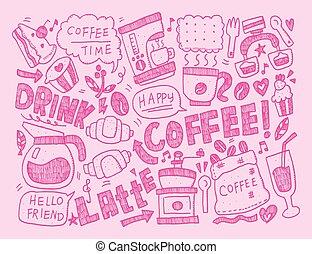 doodle coffee