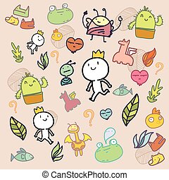 Doodle Colorful pattern